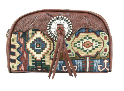 American West Bella Beau Tapestry Cosmetic Case Front