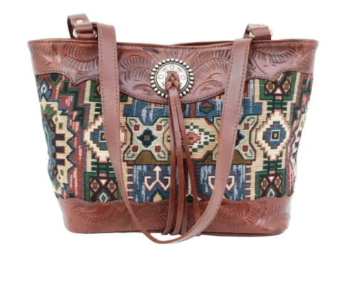 American West Bella Beau Collection Zip Top Tote