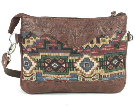 American West Bella Beau Collection Crossbody Multi-Compartment Back