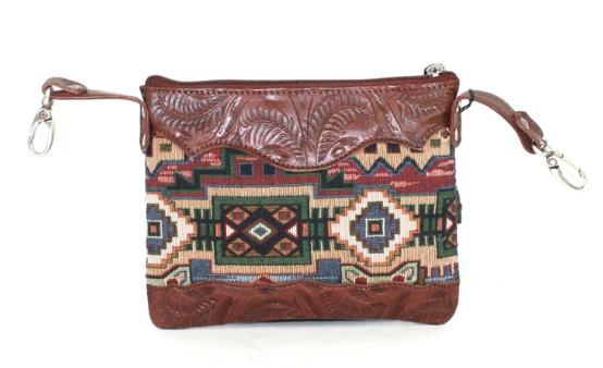American West Bella Beau Tapestry Trail Rider Crossbody Front