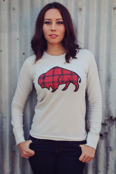 Original Cowgirl Clothing Thermal Tartan Plaid Buffalo Front