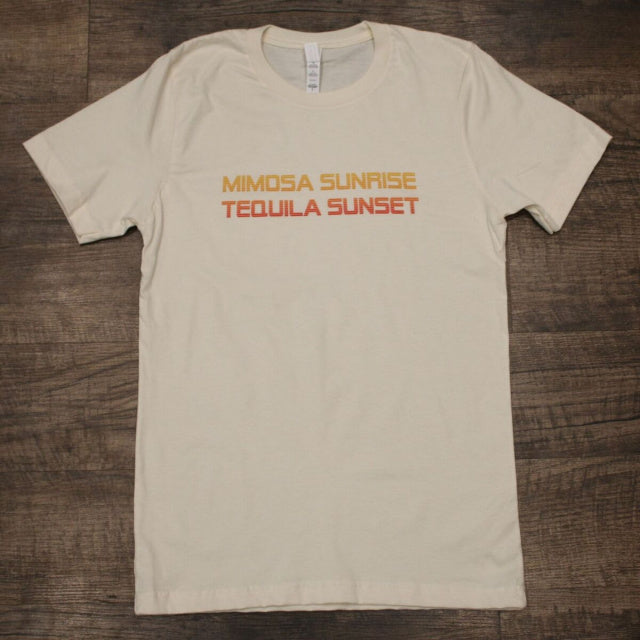 Original Cowgirl Clothing Ladies' T-Shirt Mimosa Sunrise Tequila Sunset Natural
