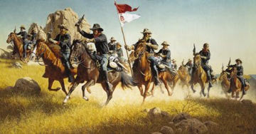 "Art Ceramic Tile ""The Pursuit"" by Western artist Frank McCarthy"