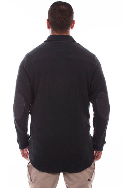 Farthest Point Collection Thermal Knit Black Front