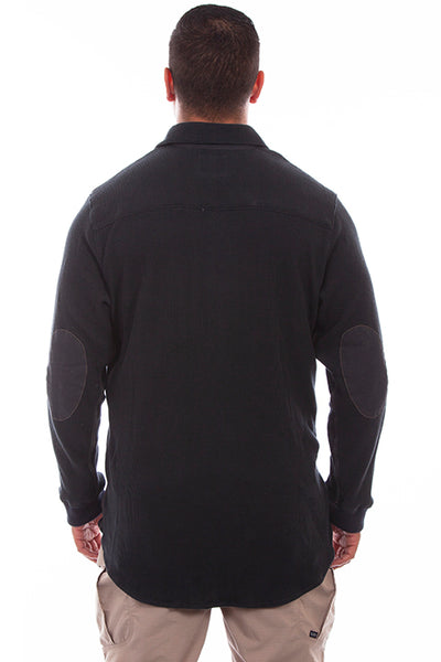 Farthest Point Collection Thermal Knit Gun Metal  Front