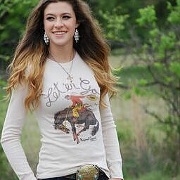 Original Cowgirl Clothing T-Shirts: Thermal Let'er Go