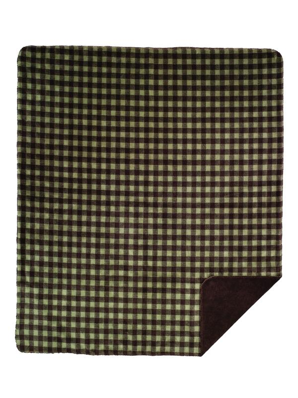 Denali Blankets Buffalo Plaid Check Thyme Chocolate Throw Blanket