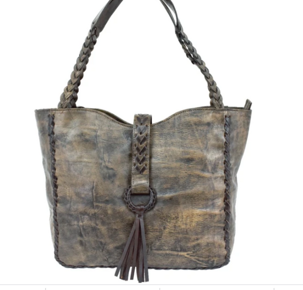 American West Wood River Collection Large Tote Sand