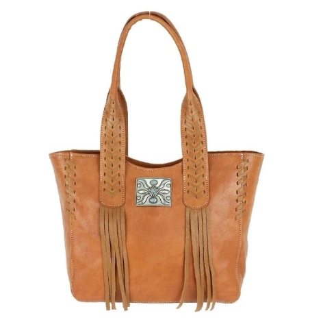American West Mohave Canyon Small Tote Natural Tan