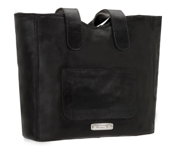 American West Mohave Canyon Small Tote Black back