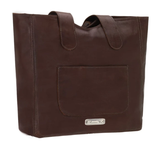 American West Mohave Canyon Small Tote Dark Brown Back
