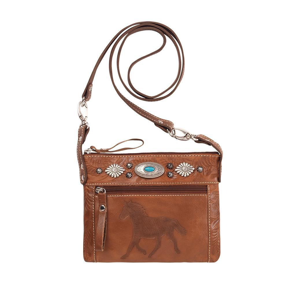 American West Handbag, Trail Rider Collection, Crossbody Horse Design