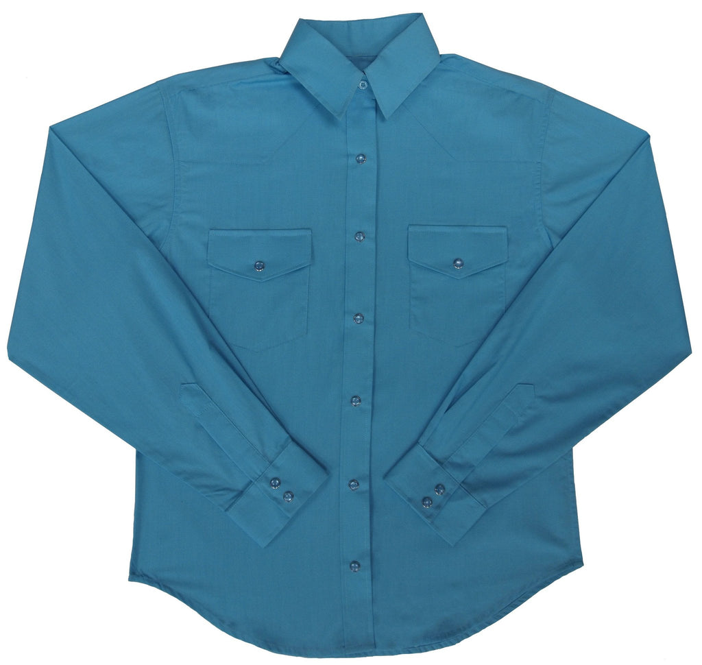 White Horse Apparel Women's Western Shirt Turquoise