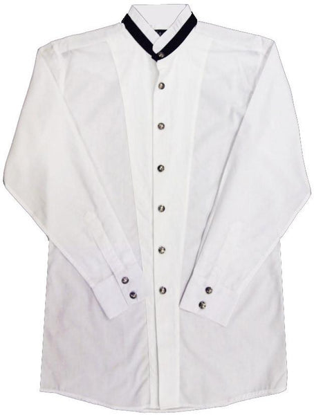 White Horse Apparel Men's Tuxedo Shirt with Indian Head Buttons