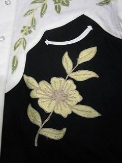 Vintage Inspired Western Shirt Men's Rockmount Ranch Wear 2 Tone Embroidery Front