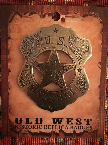 Old West Historic Badge U.S. Marshal Shield Badge