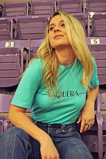Original Cowgirl Clothing Ladies' T-Shirt Vaquera Turquoise