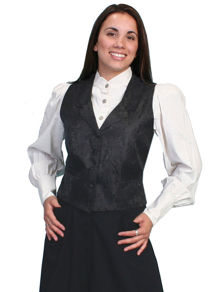 Scully Ladies Rangewear Old West Collection Paisley Vest Front