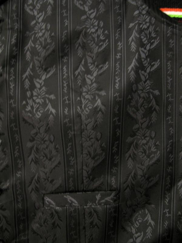 Scully Mens Rangewear Old West Vest Floral Stripe Black