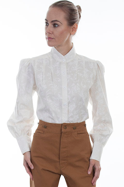 Scully Wahmaker Old West Blouse Ivory