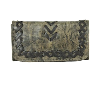 American West Wood River Collection Tri-Fold Wallet Sand