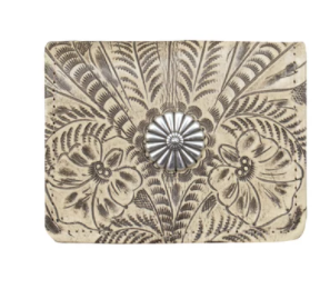 American West Handbag Tri-Fold Wallet with Concho Sand #675882