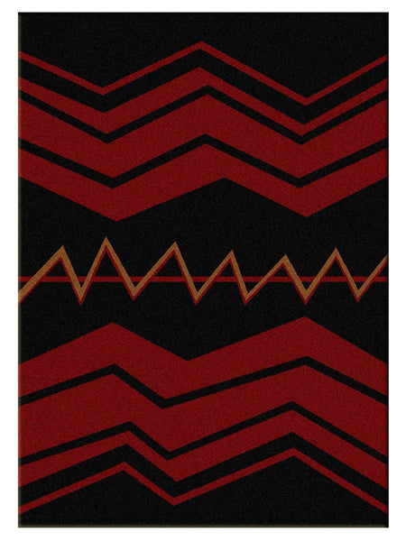 American Dakota War Path Black Rug