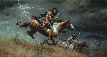"Art Ceramic Tile ""When Omens Turn Bad"" by Western artist Frank McCarthy"