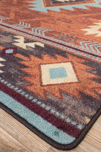 Voices Collection: Whiskey River Rust Area Rugs