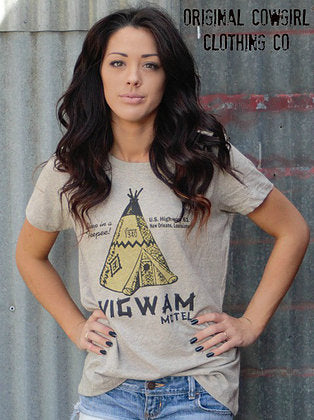 Original Cowgirl Clothing T-Shirt Wigwam Motel Ladies' Sizes