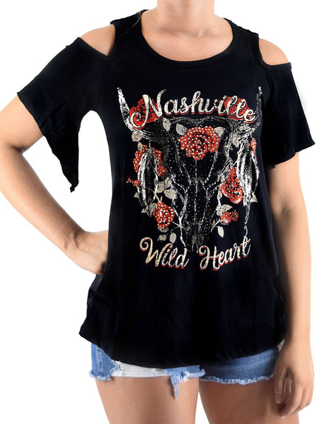 Liberty Wear T-Shirt Nashville Wild Heart Front