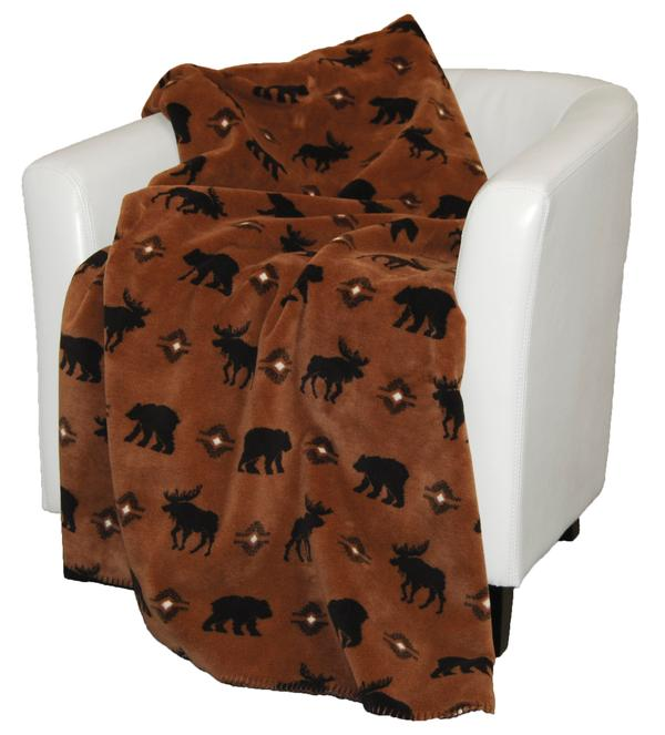 Denali Blankets Wilderness Walk Throw Blanket on Chair