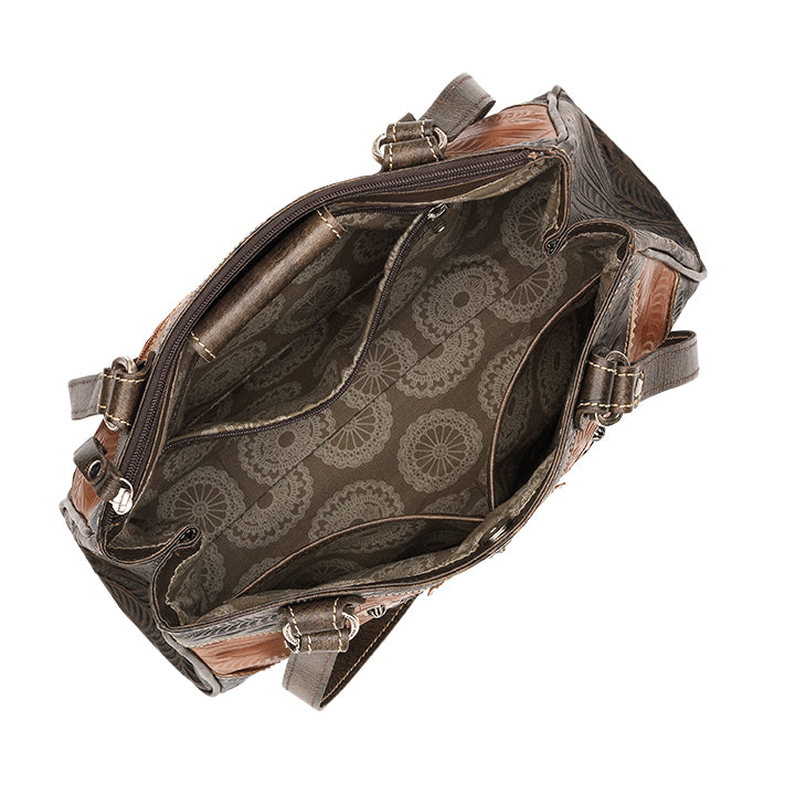 American West Handbag, Desert Wildflower Collection: Multi-Compartment Organizer Tote Interior