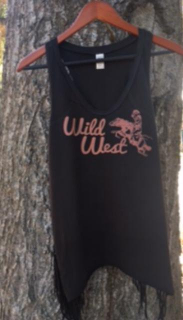 Original Cowgirl Clothing Wild West Tank Black