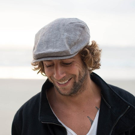 Vintage Inspired Cap: Bashford Newsboy Cap Cotton & Linen