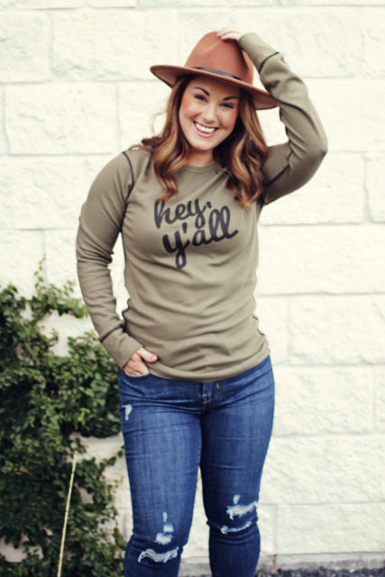 Original Cowgirl Clothing Ladies' Thermal Hey Y'all