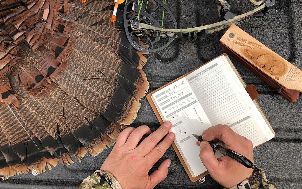 leather hunting log book