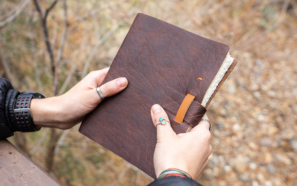 bison leather journal notebook