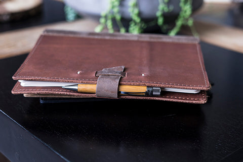 Large Leather Comp Notebook