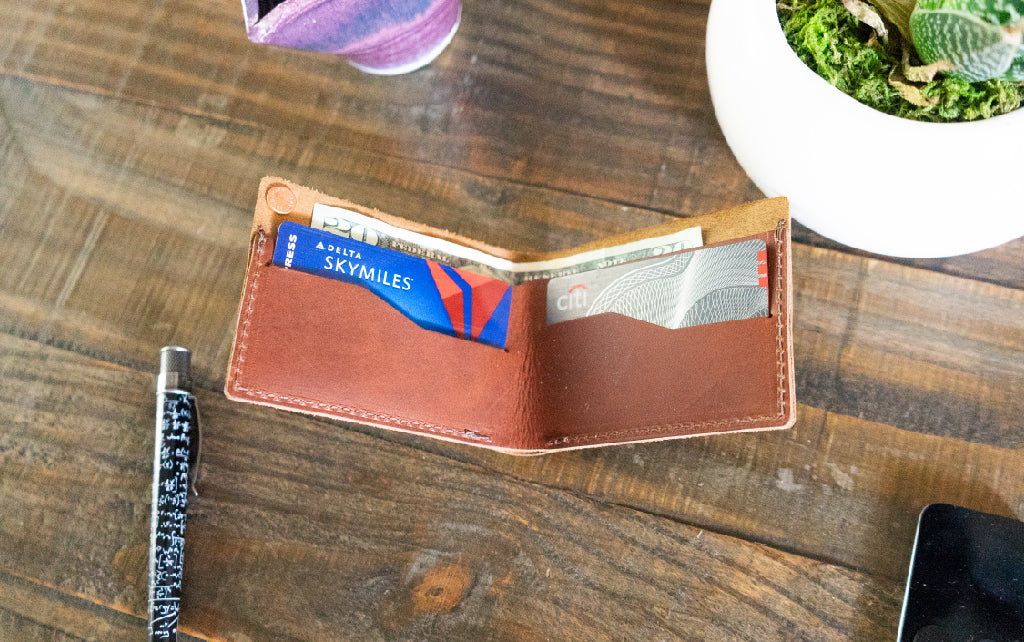 Leather Bifold Wallet Rustic