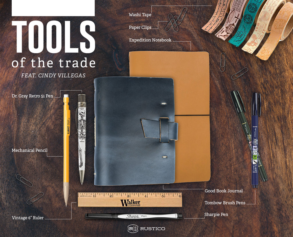 Tools of the trade leather journal