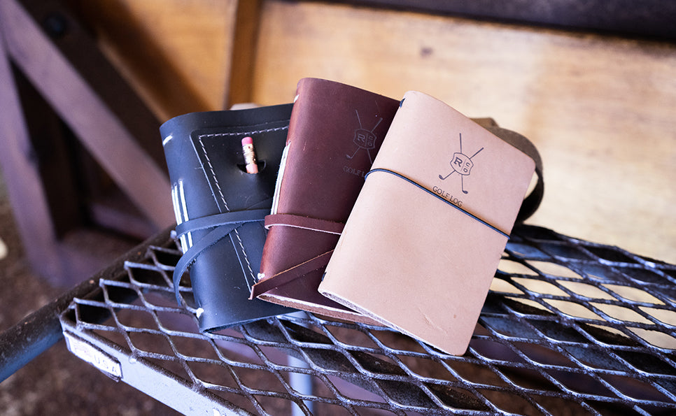 Leather golf log books journal