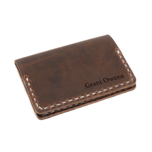 personalized voyager leather wallet example
