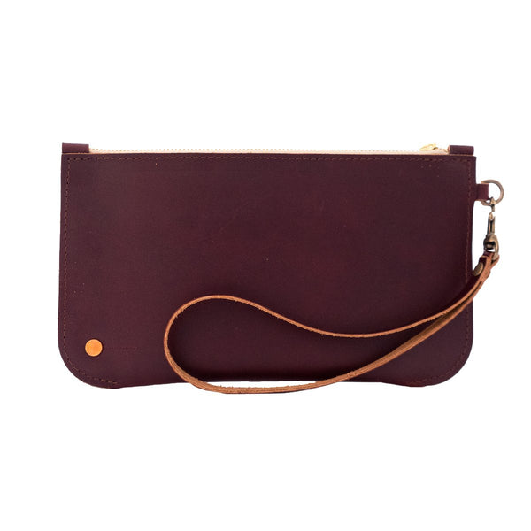 Brooklyn Leather Clutch