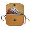 Anchor Card + Coin Leather Wallet - Buckskin
