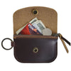 Anchor Card + Coin Leather Wallet - Burgundy
