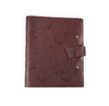 Zodiac Night Sky Leather Journal - Burgundy
