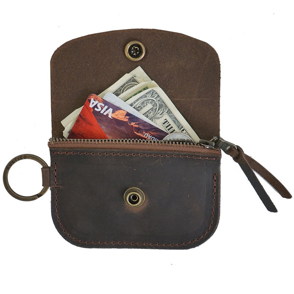 Anchor Card + Coin Leather Wallet