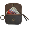 Anchor Card + Coin Leather Wallet - Dark Brown