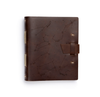 Zodiac Night Sky Leather Journal - Dark Brown
